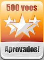 Concedido ao piloto que completou 500 voos pela TransBrasil Virtual
